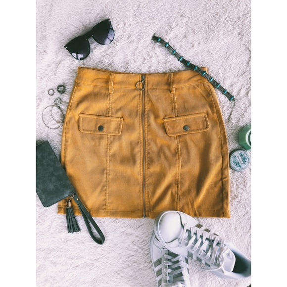 9874eb7237 O-ring front zip skirt